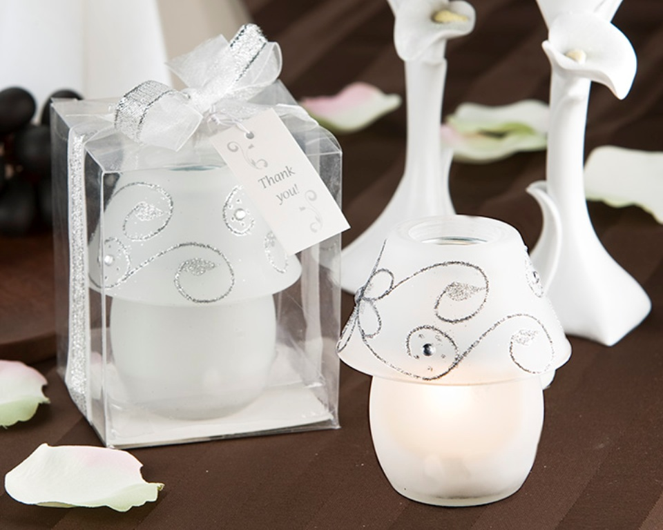 A81001 - Sparkling Tea Candle Lamp Favor