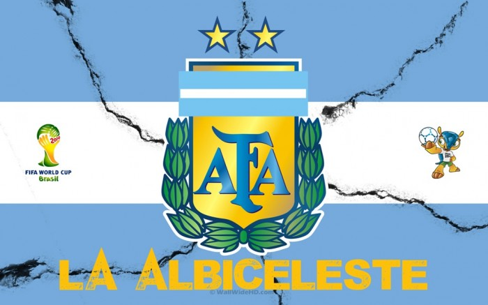 Argentina La-Albiceleste-2014-Argentina-Football-Crest-Logo-World-Cup-Wallpaper