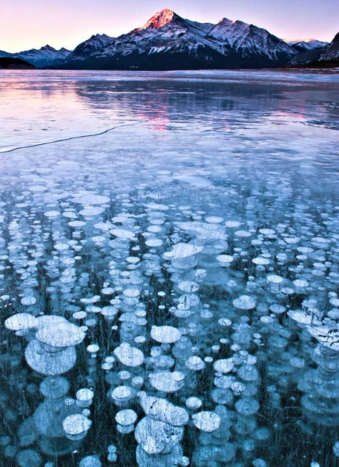 Frozen Methane Bubbles