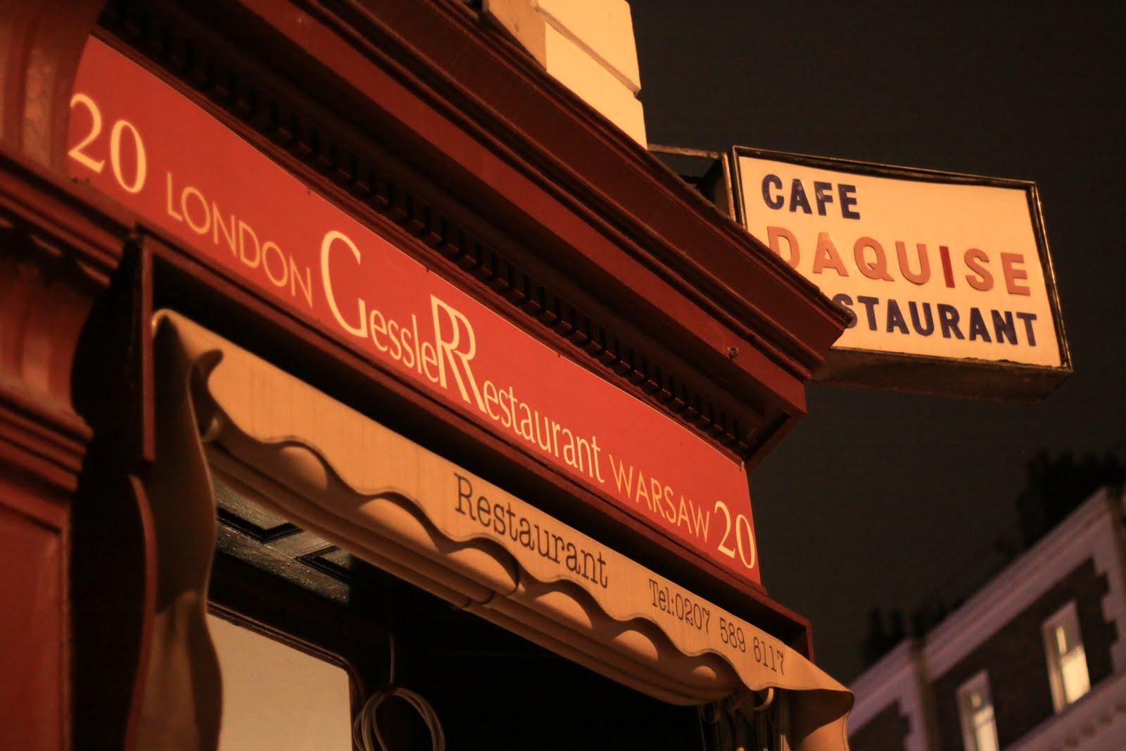 Gessler at Daquise restaurant London