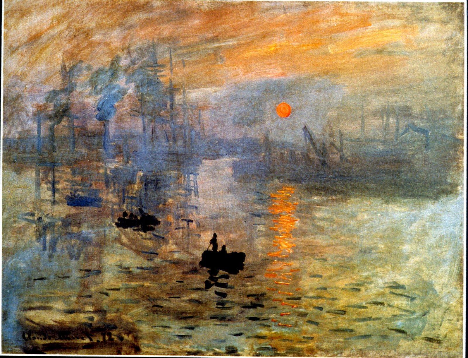 MONET impression sunrise 1872