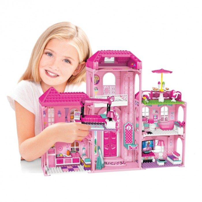 Mega Bloks Barbie Luxury Mansion mega-barbie-igralen-komplekt-luksozna-kyshta