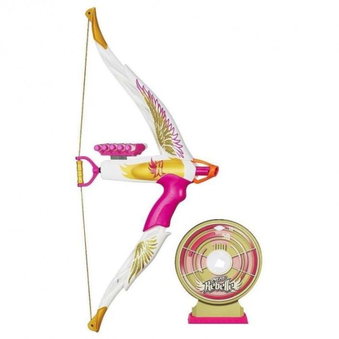 Nerf Rebelle Heartbreaker Exclusive Golden Edge Bow with Bonus Target