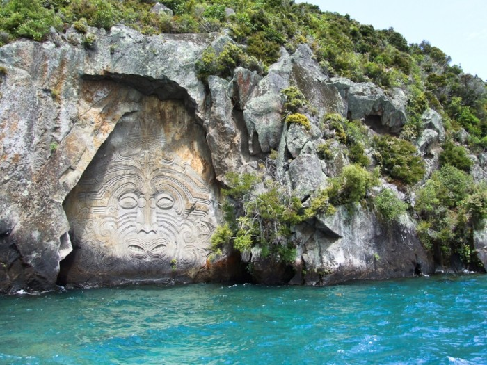 New Zealand Lake-Taupo-Maori