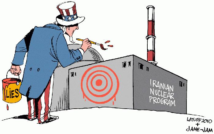 US-america-Iran-painting