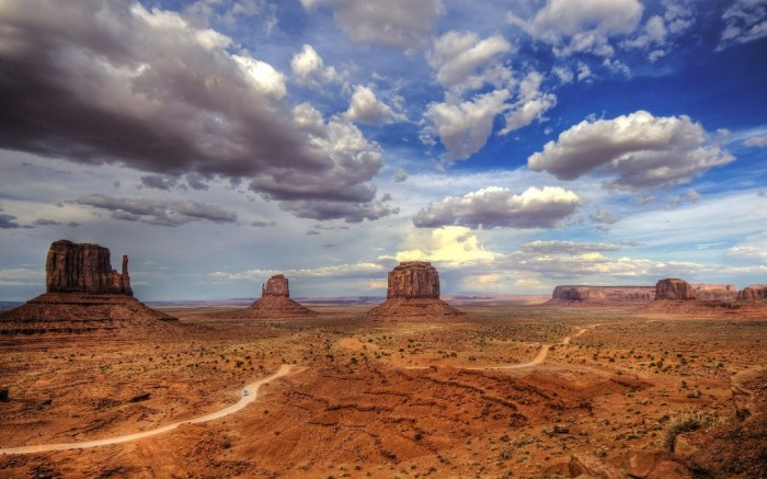 United States monument-valley-colorado-plateau-utah-usa-butte-panorama-clouds-nature