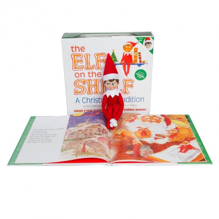 illustraed storybooks Elf on the ShelfA Christmas Tradition (light boy scout elf)