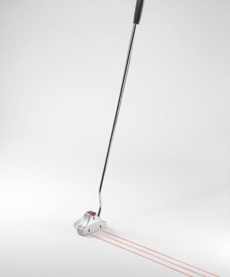 Laser putter to help him score more points in golf
