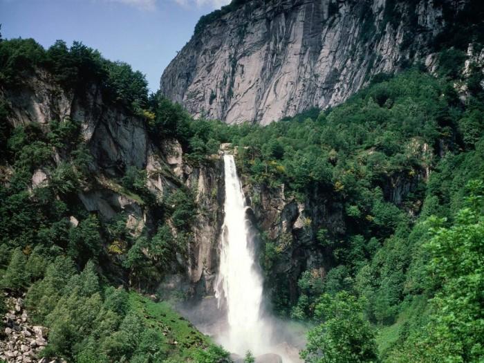 switzerland Ticino-waterfall-Switzerland