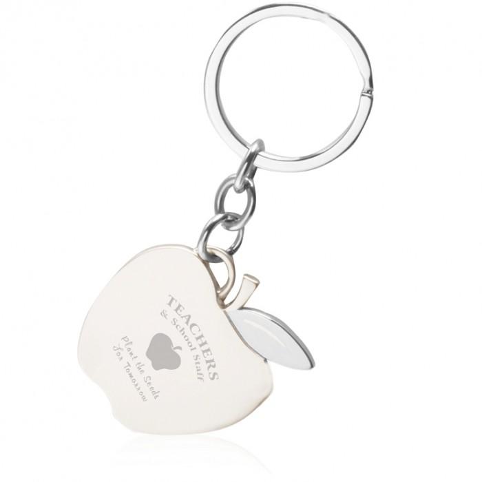 teachers-apple-key-chain-key57-silver