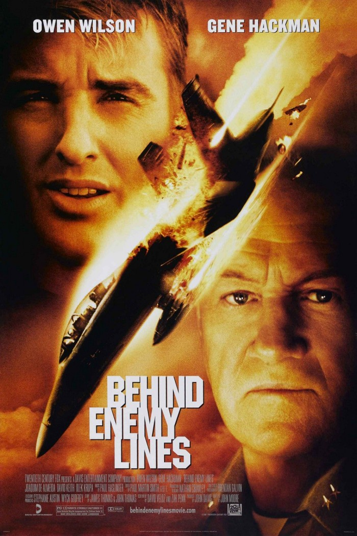 Top 10 best military movies in cinema history -  Behind_Enemy_Lines_theatrical_poster