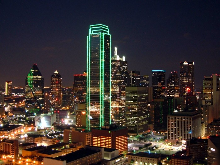 13704 Dallas skyline at night