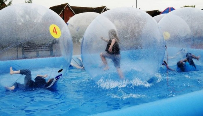 Children-have-a-go-at-Water-Zorbing-e1354720437317