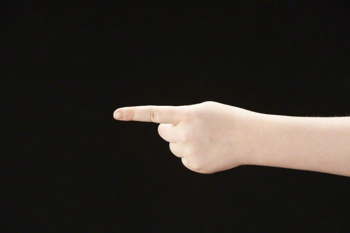 Do not use index finger