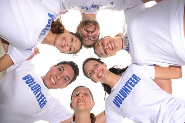 Happy-volunteer-group-forming