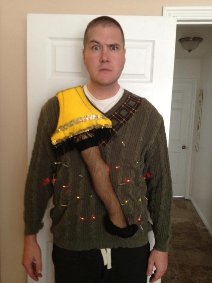 Ugly Sweater Ideas Christmas Party Part - 48: Using A Leg Lamp For Decorating Your Ugly Christmas Sweater Is Considered  To Be A New Idea That Is Going To Make Your Ugly Sweater Unique At The Ugly  ...