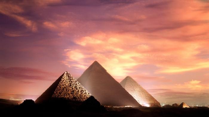 pyramids-giza-egypt-sunset-249424
