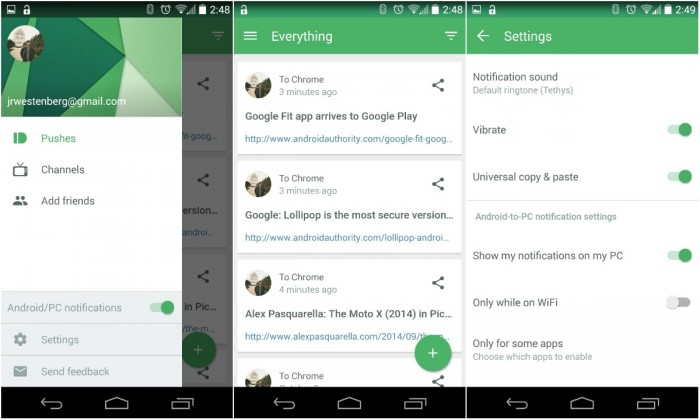 Pushbullet-material-design