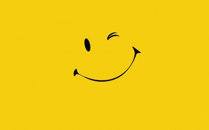 To rouse good feelings, smile