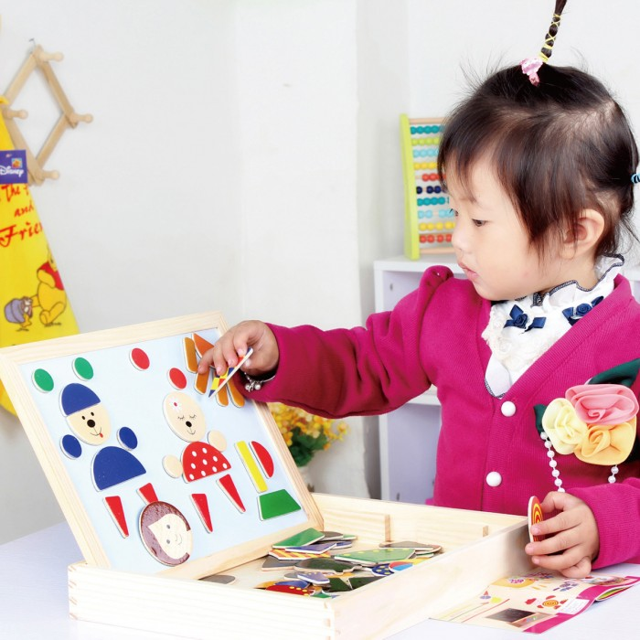 Wood-baby-drawing-board-toy-puzzle-magnetic-wooden-toys-double-faced-oppssed-writing-board