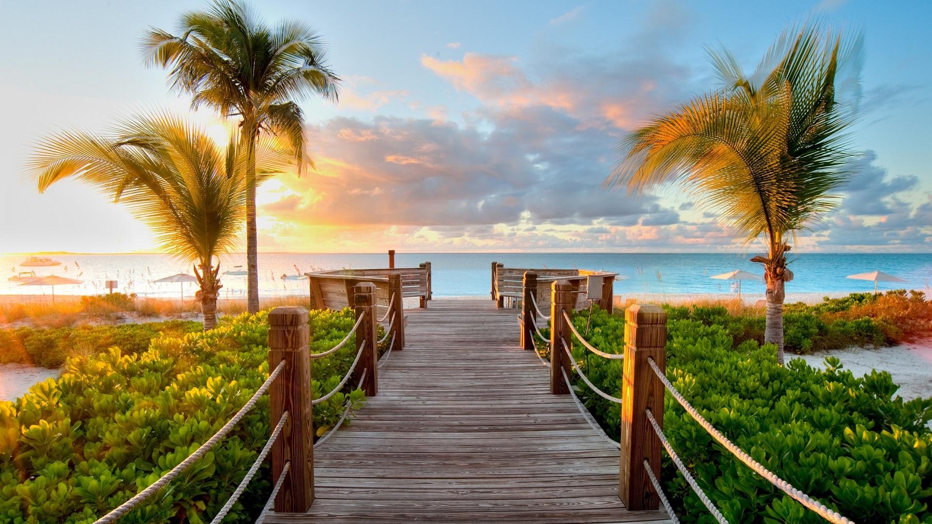 Bridge-Wood-Beach-Caribbean-HD-Free-Wallpaper
