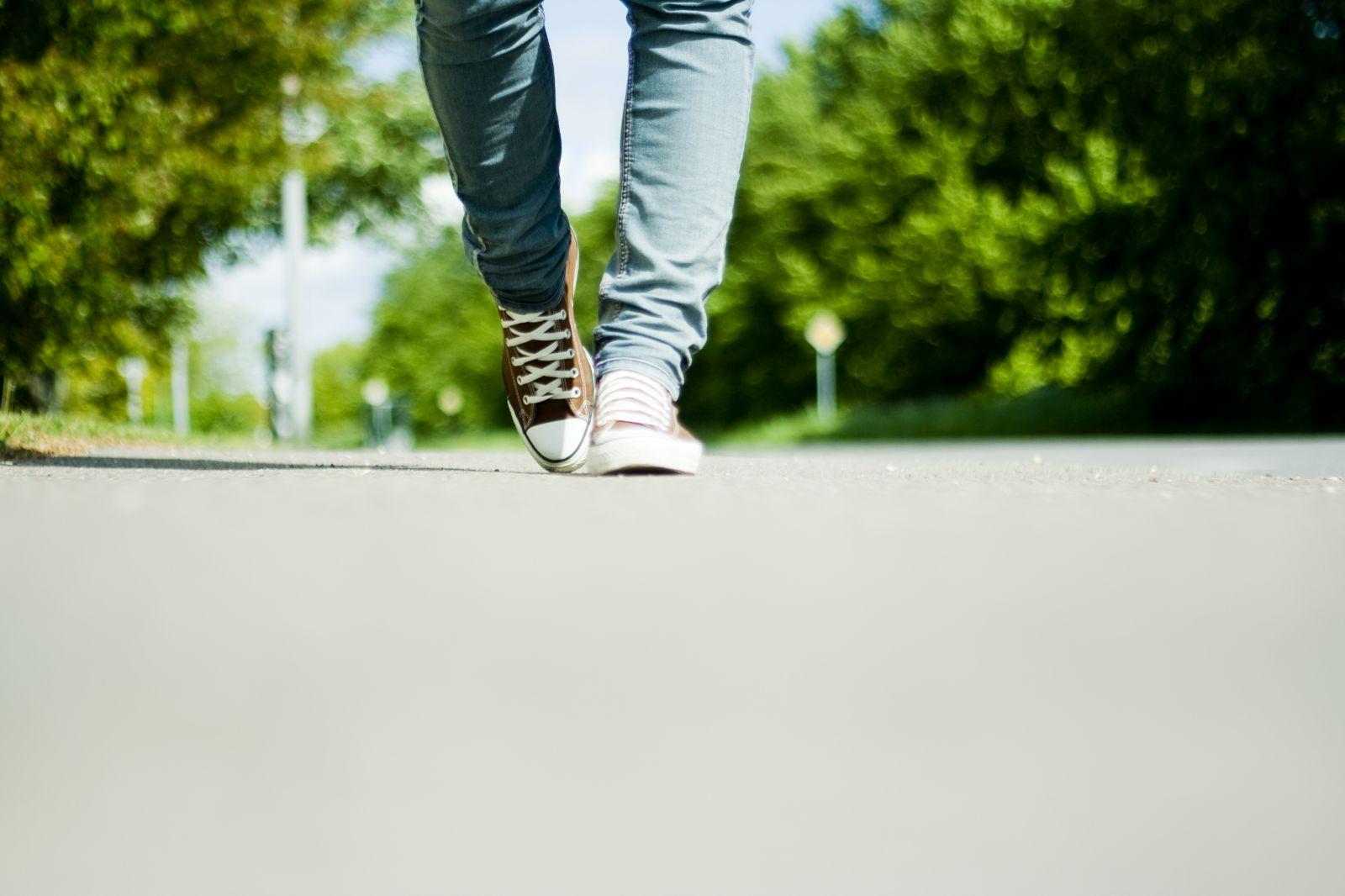 Walking on Road