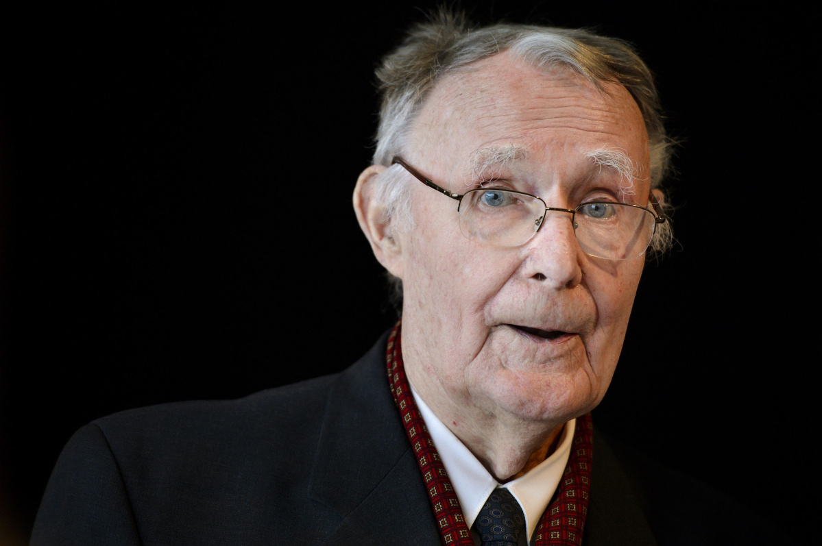 Ikea founder Ingvar Kamprad poses prior the inauguration of the Margaretha Kamprad Chair of Environmental Science and Limnology on December 3, 2012 at the Swiss Federal Institutes of Technology of Lausanne (EPFL) in Lausanne. Kamprad, 86, is determined to keep the Swedish furniture giant off the stock exchange, he told AFP ahead of the inauguration in honour of his late wife.  AFP PHOTO / FABRICE COFFRINIFABRICE COFFRINI/AFP/Getty Images