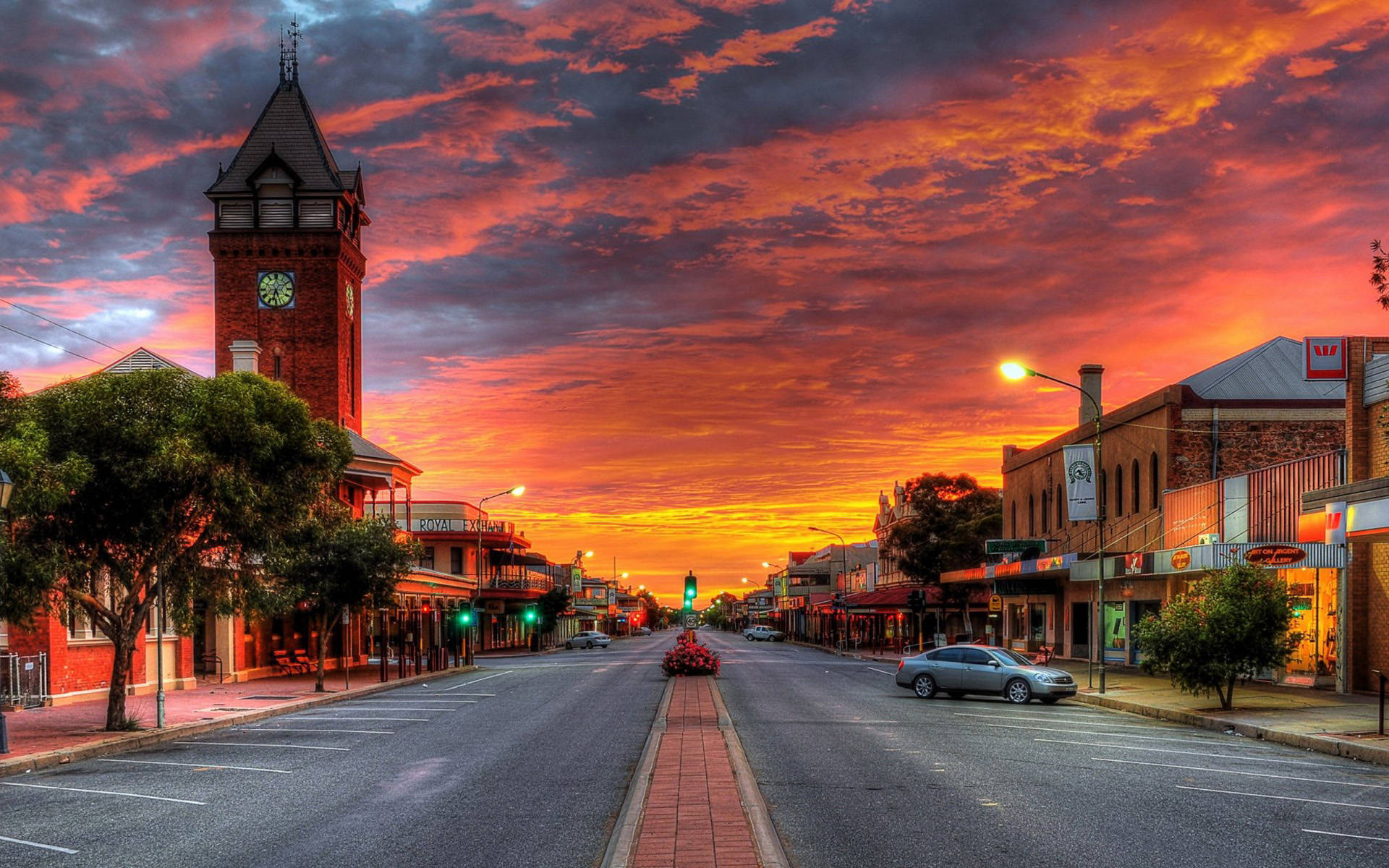 Australia streets sunset wallpaper