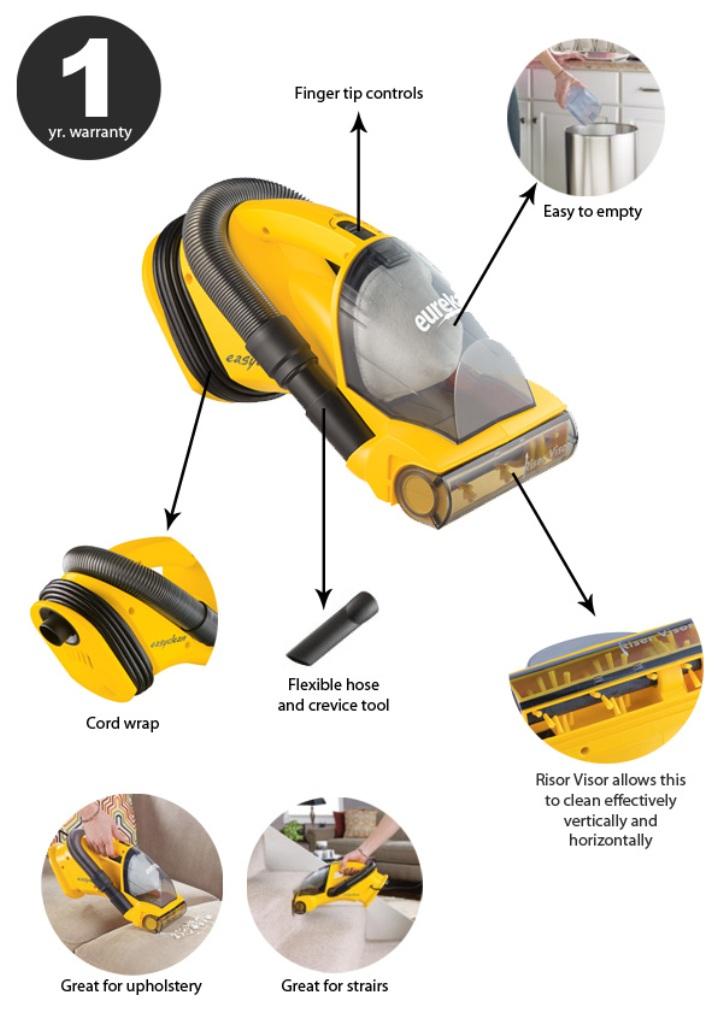 Eureka Easy Clean Hand-Held Vacuum.