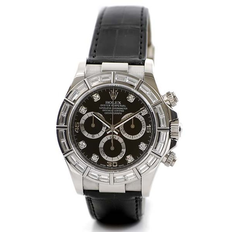 ROLEX WATCHES - DAYTONA WHITE GOLD - DIAMOND BEZEL - 116589BRIL - $70,874.10