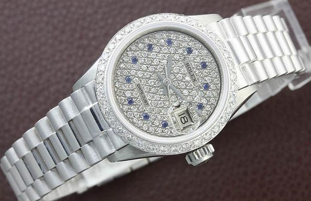 Rolex Datejust Ladies White Gold Watch – $59,100