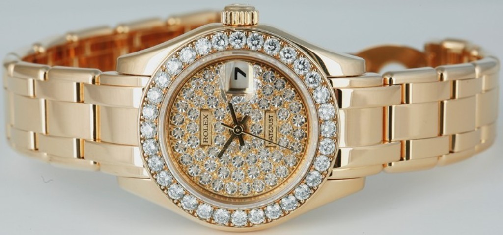 Rolex Ladies Masterpiece Diamond Pave Watch – $61,600