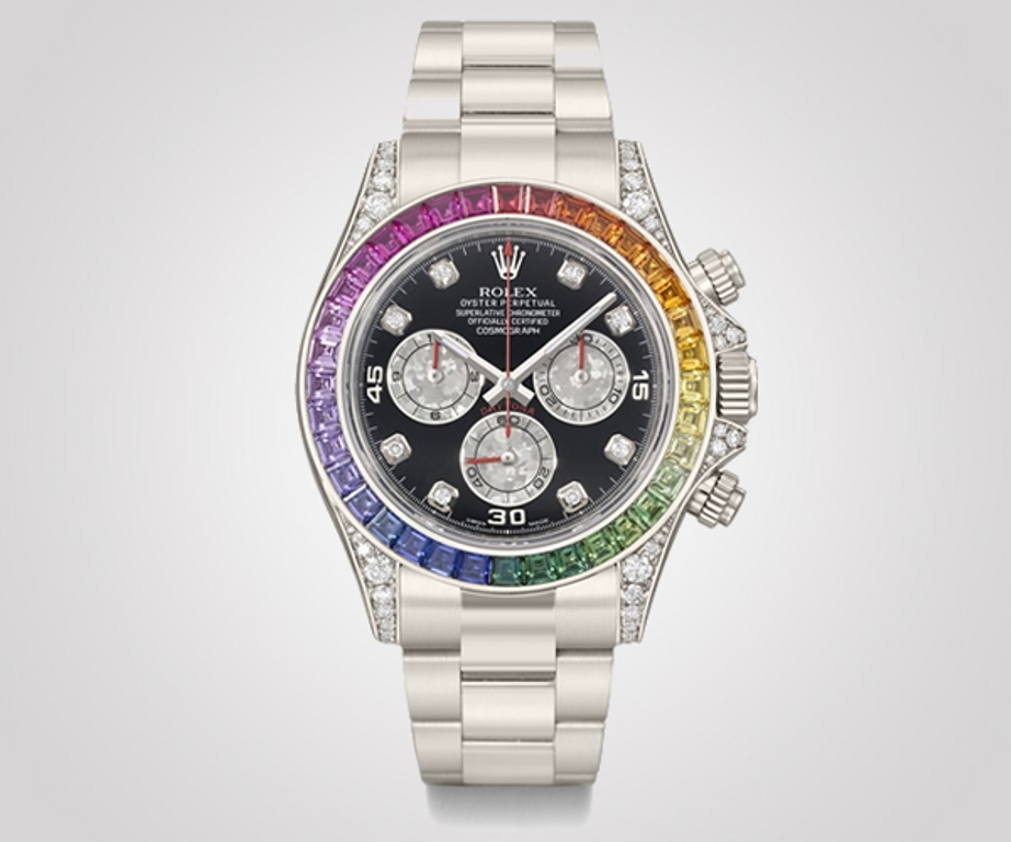Rolex White Rainbow Daytona ($50,000 - $80,000)
