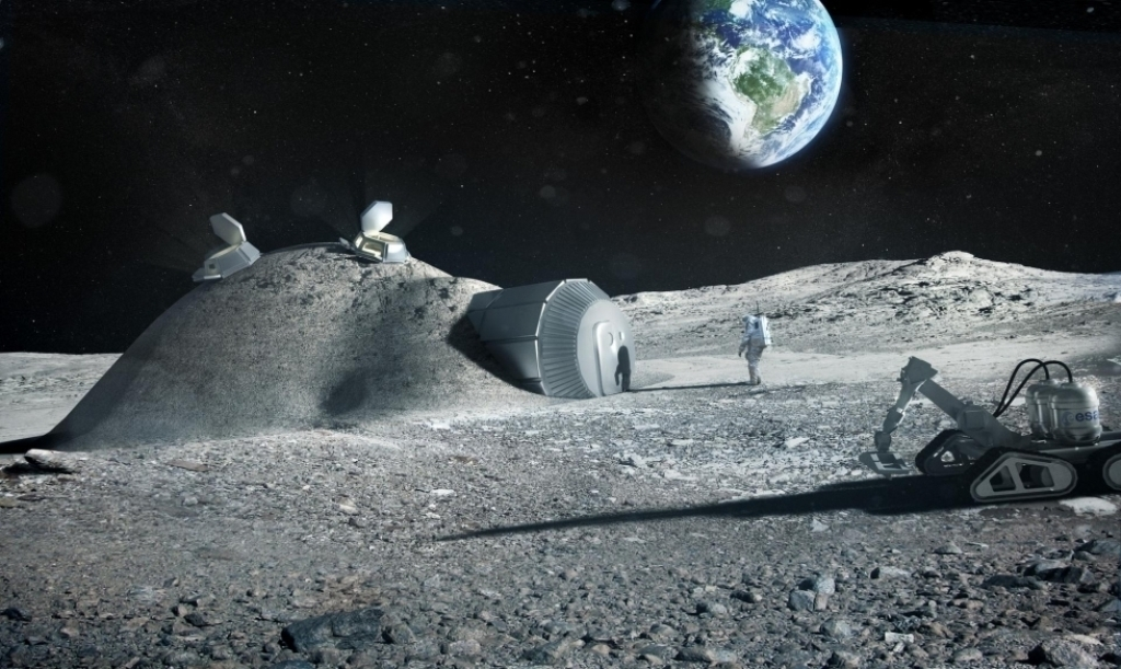 3D printed homes on the moon