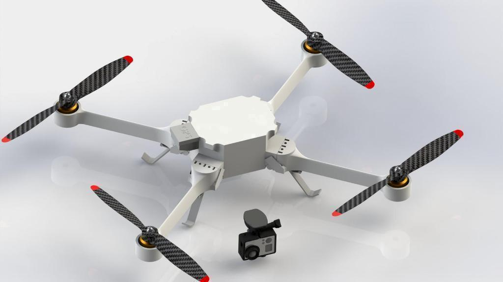 3D printed quadcopters