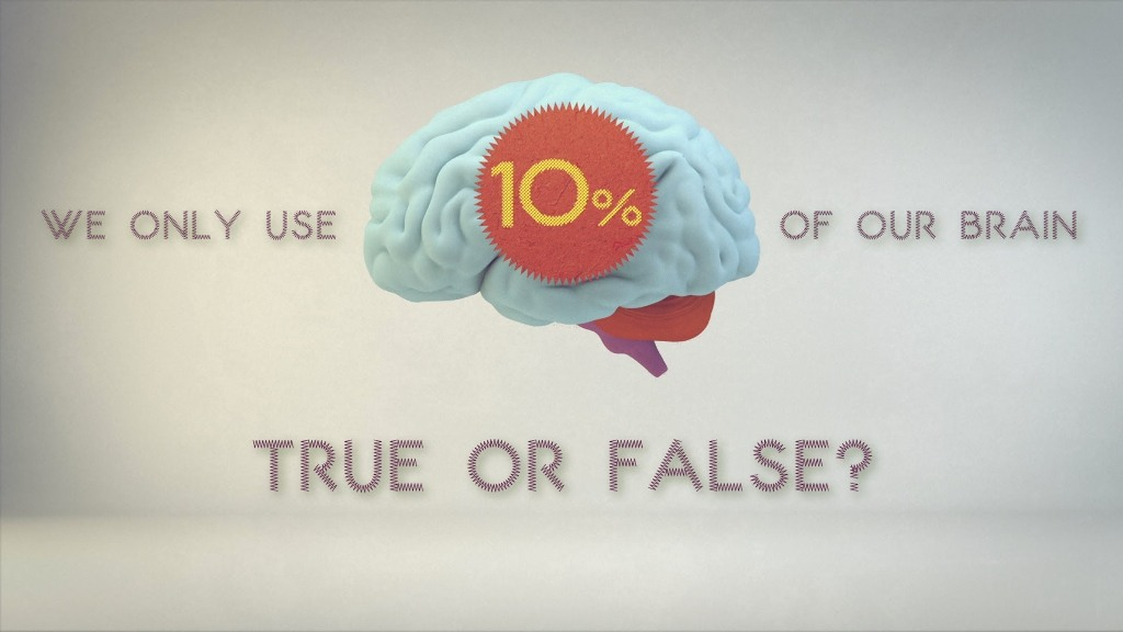 You are extremely smart because you just use 10 percent of your brain.