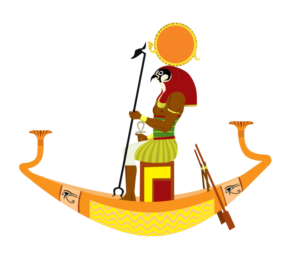 god_ra_on_a_sun_boat_by_sanio-d5vdemo