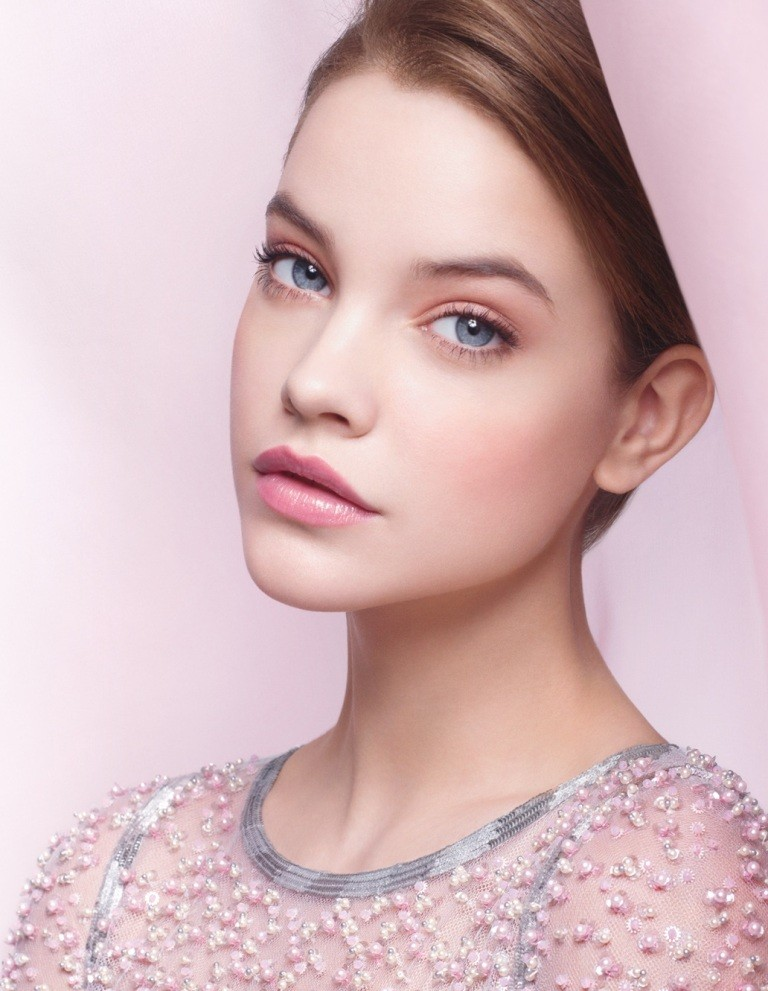 light Pink on the cheeks and lips
