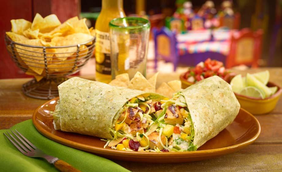 Rubio's tropical wrap salad