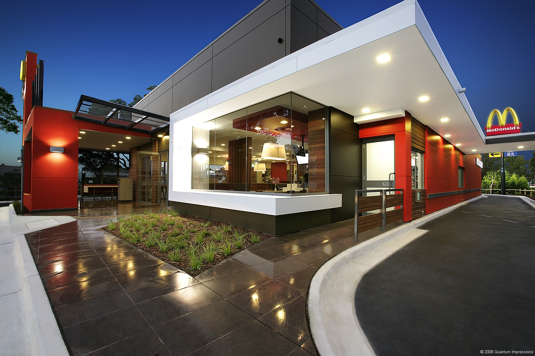 Exterior Front Corner View; McDonald's D10