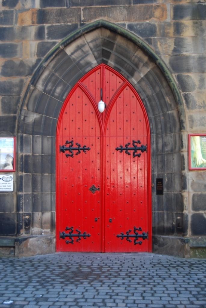 Painting doors in red