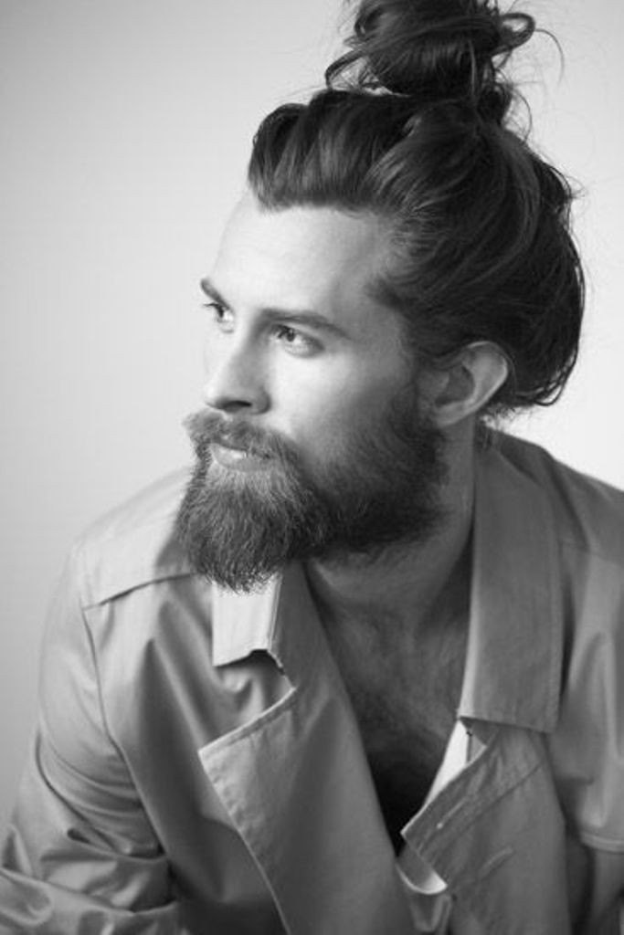 beard with man bun and top knot (2)