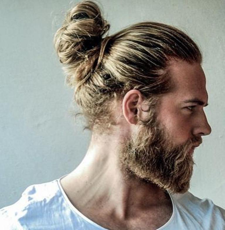 beard with man bun and top knot (3)