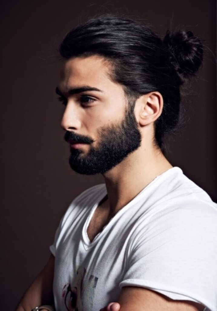 beard with man bun and top knot (5)