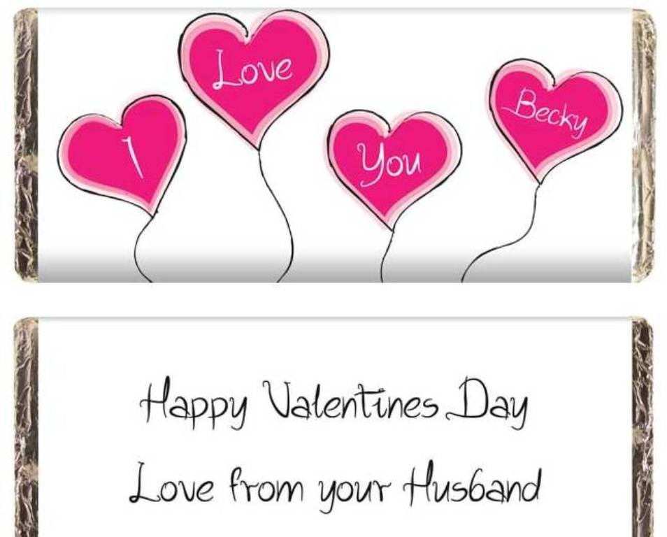 Hide romantic messages with candy and chocolate (3)