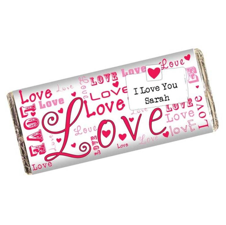 Hide romantic messages with candy and chocolate (4)
