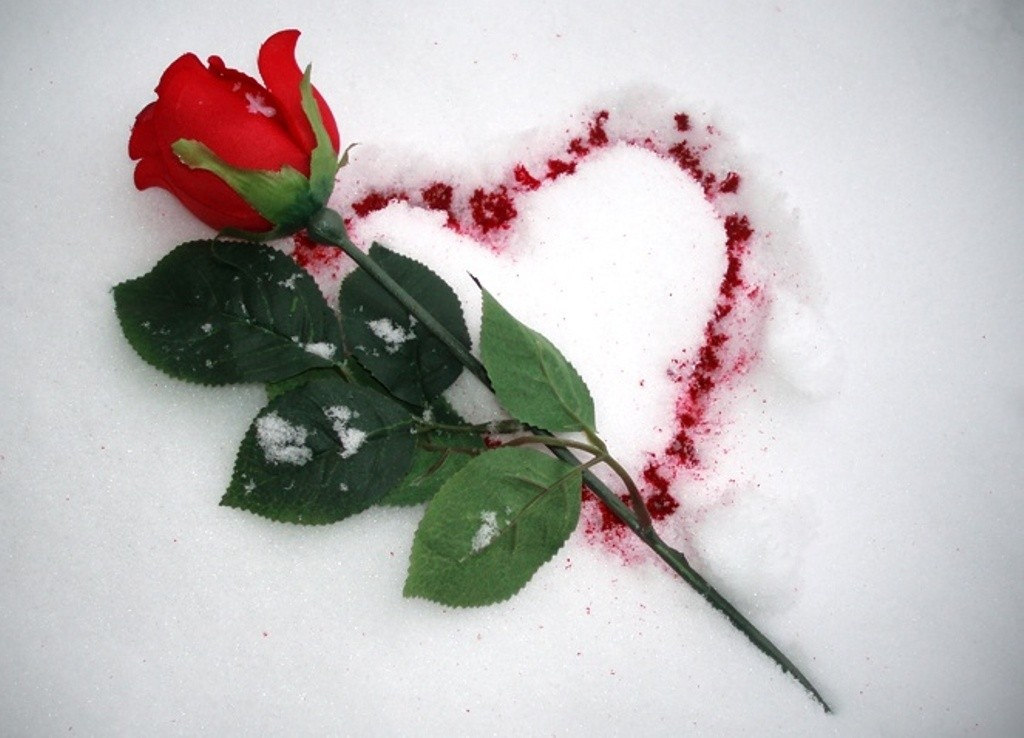 I Love You on snow (2)