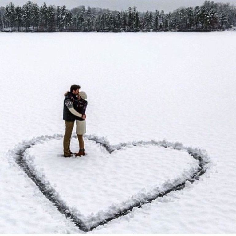 I Love You on snow (3)