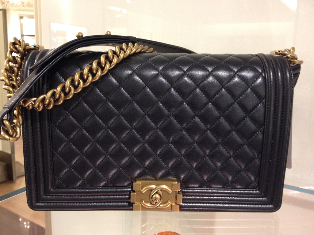 Chanel-Medium-Boy-Bag-with-Gold-Hardware-Prefall-2014