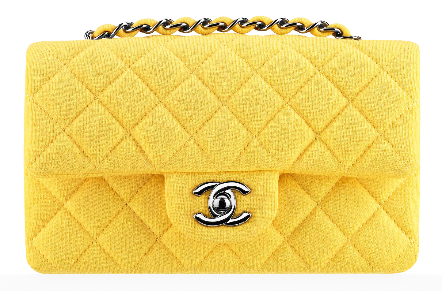 Chanel-Small-Jersey-Classic-Flap-Bag-Yellow